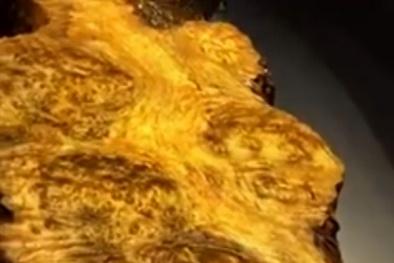 Bàn trà gỗ 1.000 tuổi tỏa hương thơm ngát đại gia trả 180 triệu không bán ở Lào Cai