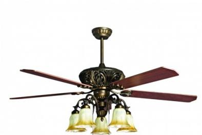 Quạt trần cánh gỗ: Sản phẩm đẹp, lạ và đắt, giá chục triệu đồng/chiếc