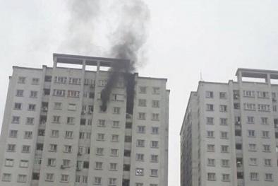Cháy căn hộ tầng 21 chung cư Văn Khê, cư dân hoảng loạn bỏ chạy
