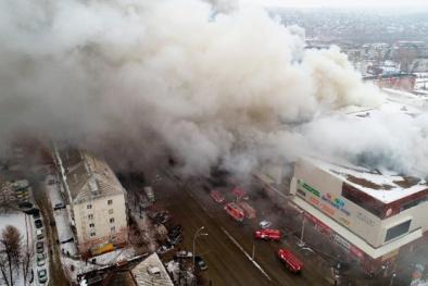Cháy kinh hoàng tại trung tâm thương mại tỉnh Kemerovo, Nga
