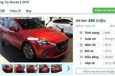 Chiếc ô tô 5 chỗ số tự động 'mới toanh' này đang bán tầm giá 400 triệu đồng tại Việt Nam