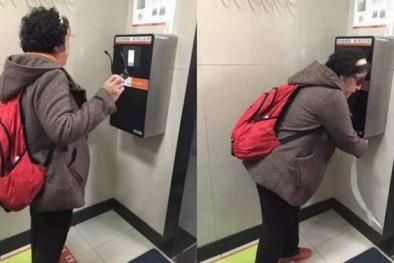 Trung Quốc: Nhận diện khuôn mặt khi đi vệ sinh tránh tình trạng ăn cắp giấy