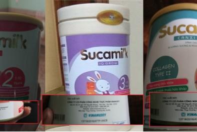 """Ba loại sữa Sucamilk """"chung"""" một số công bố, người tiêu dùng hoang mang"""