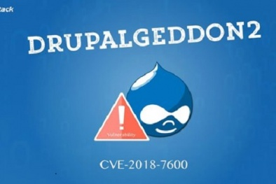 Hàng trăm website Việt dùng nền tảng Drupal có nguy cơ bị hacker