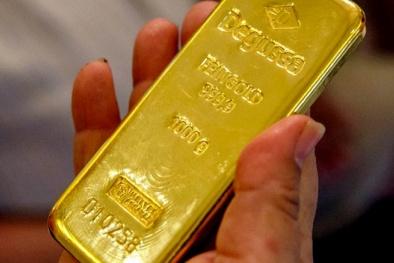 Giá vàng hôm nay 23/4: Vàng giảm sâu xuống mức thấp nhất hai tuần qua