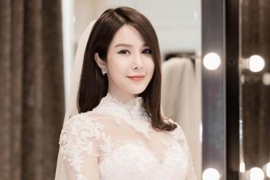 Cận cảnh nhan sắc đẹp 'hút hồn' của Diệp Lâm Anh khi diện váy cưới