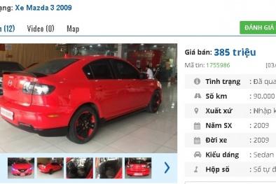 Chiếc ô tô Mazda cũ số tự động này đang rao bán tầm giá 300 triệu tại Việt Nam