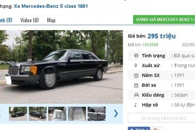 Những chiếc ô tô Mercedes cũ này đang rao bán tầm giá 200 triệu tại Việt Nam