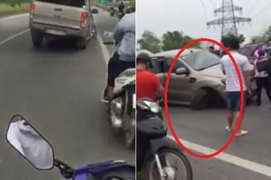 Tai nạn giao thông ngày 28/5: Ford Ranger gây tai nạn rồi bỏ chạy, phóng vun vút bằng 3 bánh