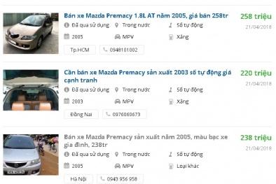 Ô tô cũ 7 chỗ này đang được rao bán nhiều tầm giá 200 triệu ở Việt Nam