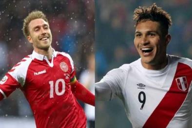 Xem trực tuyến bóng đá Peru vs Đan Mạch, bảng C World Cup 2018