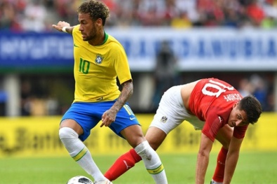 Brazil vs Thụy Sĩ: Neymar mờ nhạt, 'vũ công Samba' hòa thất vọng
