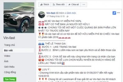 Thực hư thông tin VinFast tặng miễn phí 80 ô tô 'made in Vietnam' mới cho người dùng