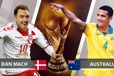 Truyền hình trực tiếp World Cup 2018 trận Đan Mạch và Úc hãy chọn kênh có bản quyền