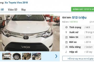 Chiếc ô tô 4 chỗ 'mới tinh' này của Toyota hiện có giá bán 513 triệu đồng