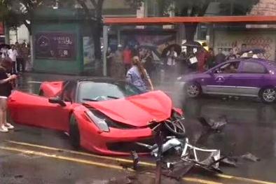 Cô gái trẻ Trung Quốc 'phá nát' siêu xe Ferrari 17 tỷ chỉ sau vài giây cầm lái