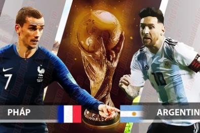 Truyền hình trực tiếp World Cup 2018 trận Pháp gặp Arrgentina hãy chọn kênh có bản quyền