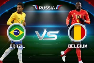 Link xem trực tiếp bóng đá World Cup 2018 Brazil vs Bỉ, vòng tứ kết lúc 1h00 ngày 7/7