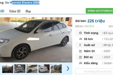 2 mẫu ô tô Hyundai cũ này được rao bán nhiều nhất tầm giá 200 triệu tại Việt Nam