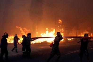 Cháy rừng tại Hy Lạp: Hàng chục người chết gục trong sân nhà
