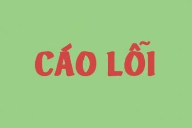 Chất lượng Việt Nam Online đính chính và cáo lỗi