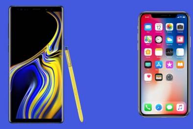 Hai điện thoại 1.000 USD 'đối đầu': Galaxy Note 9 và iPhone X 'mèo nào cắn mỉu nào'?
