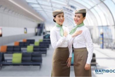 Cộng đồng mạng 'dậy sóng' với đồng phục tiếp viên hàng không Bamboo Airways
