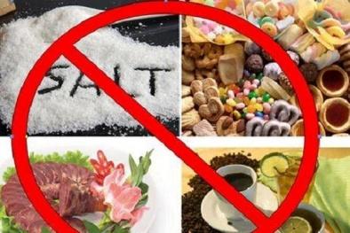 Khuyến cáo những thực phẩm là 'kẻ thù' của người cao huyết áp