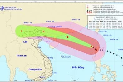 Tin tức mới nhất siêu bão Mangkhut, giật cấp 17: 24h tới bão di chuyển thế nào?