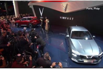 Cận cảnh màn ra mắt hoành tráng của ô tô VinFast 'made in Vietnam' tại Paris