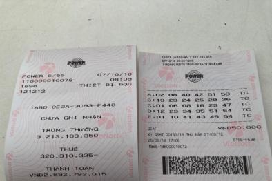 Xổ số Vietlott: Nhận giải thưởng 3,2 tỷ đồng, người Quảng Bình 'phút chốc' thành tỷ phú mới