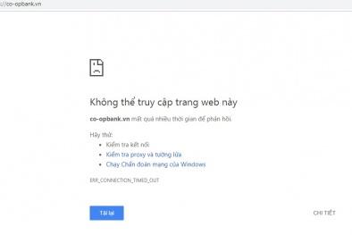 Những rủi ro có thể xảy ra khi website Ngân hàng Hợp tác xã Việt Nam bị tấn công