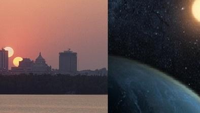 Giả thuyết về số phận của Trái đất nếu vũ trụ tồn tại 2 Mặt trời