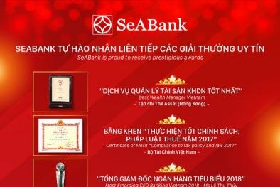 SeA Bank tự hào nhận liên tiếp các giải thưởng uy tín