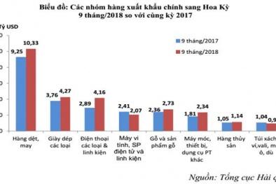 Xuất khẩu hàng hóa Việt Nam sang Mỹ đạt trên 35 tỷ USD, tăng hơn 4 tỷ USD