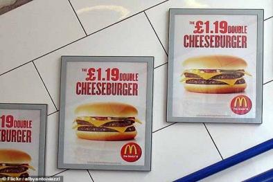 London 'hành động khắc nghiệt', cấm quảng cáo đồ ăn vặt trên phương tiện công cộng