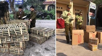 Chặn đứng lô hàng kẹo sữa, rau củ cay Trung Quốc tuồn lậu về Hà Nội bán kiếm lời