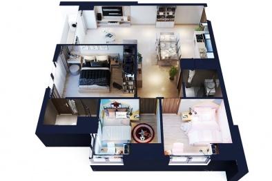 Đi tìm lời giải cho sức hút của căn hộ 3 phòng ngủ