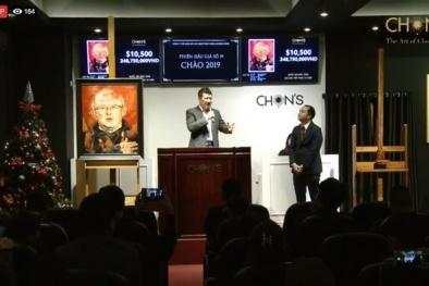 Bất ngờ bức tranh chân dung HLV Park Hang-seo có giá hơn 246 triệu đồng