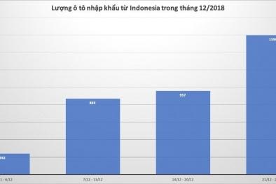 Tuần cuối năm 2018, ô tô nguyên chiếc từ thị trường Thái Lan, Indonesia ồ ạt vào Việt Nam