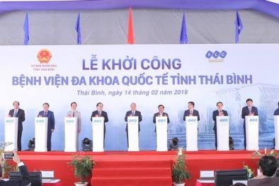 Thủ tướng nhấn nút khởi công Bệnh viện Đa khoa Quốc tế do Tập đoàn FLC đầu tư tại Thái Bình