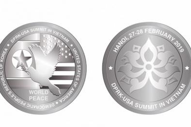 300 đồng xu bạc được phát hành kỷ niệm cuộc gặp gỡ thượng đỉnh Mỹ - Triều Tiên tại Việt Nam