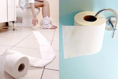 Dùng giấy vệ sinh kiểu này nguy cơ rước đống bệnh vào người