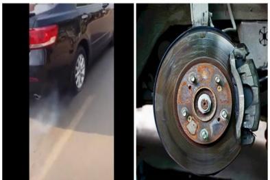 Ô tô bị bó cứng phanh cần bảo dưỡng sớm để tránh tai nạn nguy hiểm