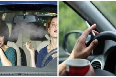Sức khỏe suy kiệt, xe mất giá trị nếu thường xuyên hút thuốc trong ô tô dù mở cửa