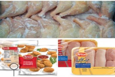 Thịt gà đông lạnh nghi lẫn kim loại tại Mỹ có thể gây tử vong