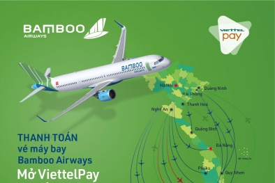 Bamboo Airways ra mắt ứng dụng thanh toán vé máy bay tiện lợi với ViettelPay