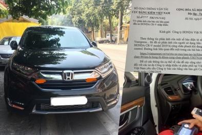 Honda trả lời 'chung chung' như bao lần về việc xe CR-V lỗi hệ thống phanh