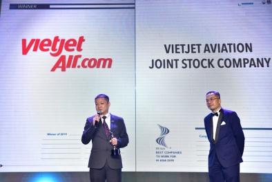 Giải thưởng 'Nơi làm việc tốt nhất châu Á 2019' gọi tên Vietjet