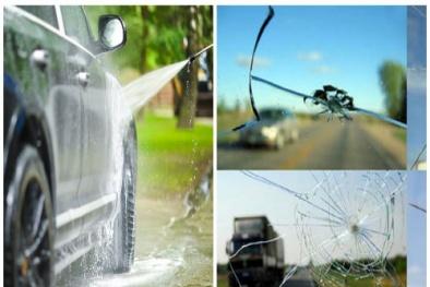 Rửa xe ô tô sau khi đi nắng sai cách có thể khiến kính vỡ toác